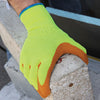 Showa 317 Yellow Gloves with Latex Coated Grip
