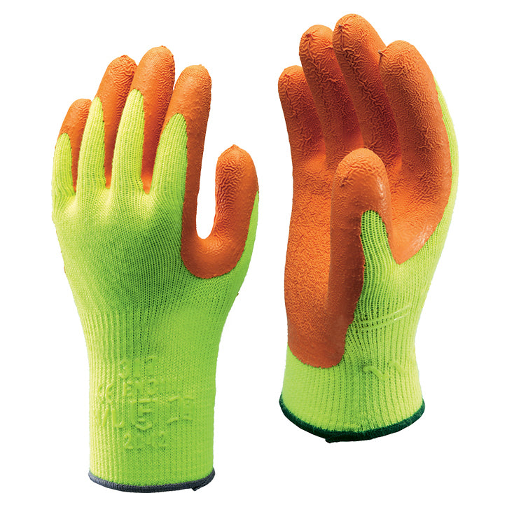 Showa 317 Hi Vis Yellow Fluorescent Safety Grip Work Gloves
