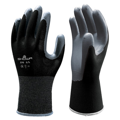 Showa 370 Black Gloves Nitrile Safety Grip