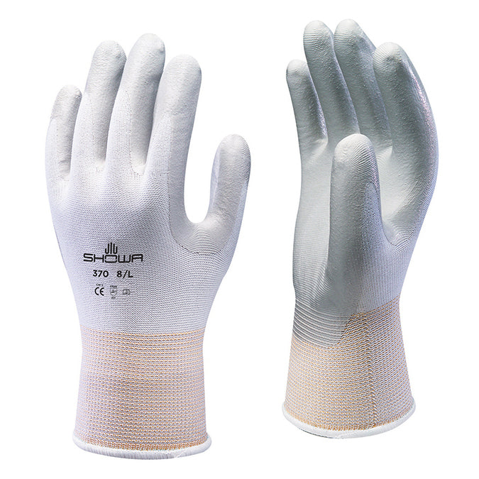 Showa 370 White Assembly Grip Gloves Nitrile Coated