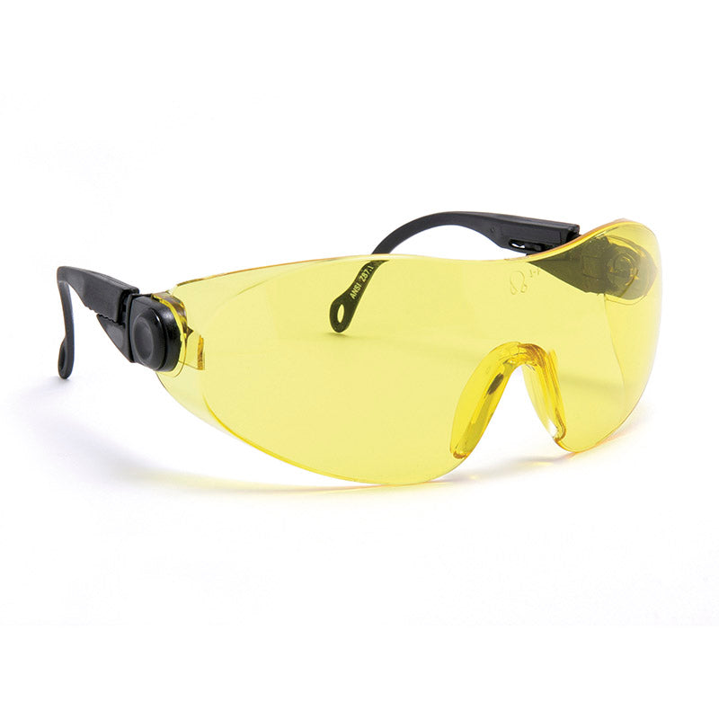 Blackrock Safety Spectacles DOUBLE Arm Adjust Yellow
