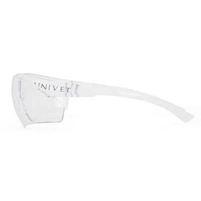 Univet 505 Clear Safety Glasses Side