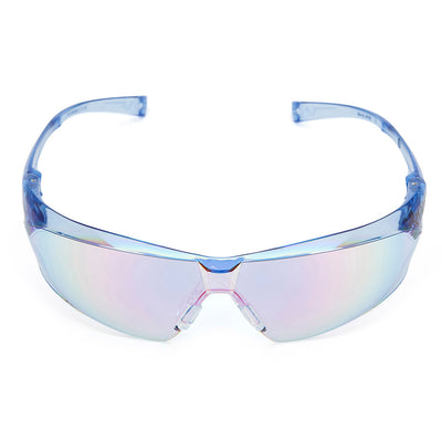 Univet 505 Blue Lens Safety Glasses Face On