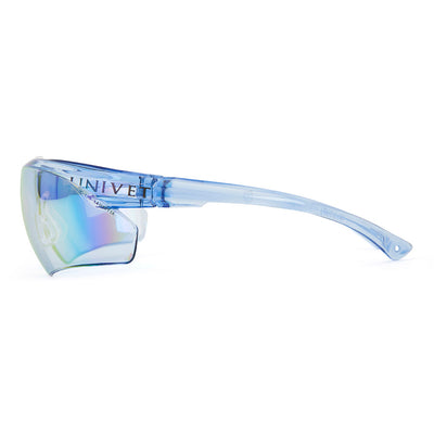 Univet 505 Blue Lens Safety Glasses Side View