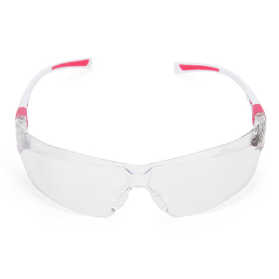 Ladies Pink Safety Glasses Front