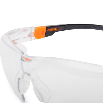 Univet 506 Ladies Safety Glasses with Clear Lens Close Up