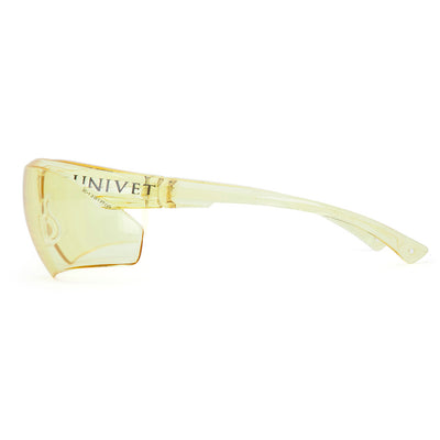 Univet 505 Yellow Lens Safety Glasses Side View