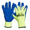 Blackrock Thermal Hi Vis Yellow Latex Work Gloves
