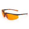 Univet 5X3 High Technology Safety Glasses Orange Cycle Lens