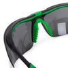 Univet 5X3 Safety Glasses Smoke Flash Mirror Lens