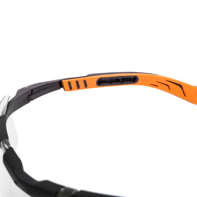 Univet 5X6 Sporty Design Wrap-around Safety Glasses Clear Lens