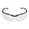 Univet 5X6 Sporty Design Wraparound Clear Lens Safety Glasses