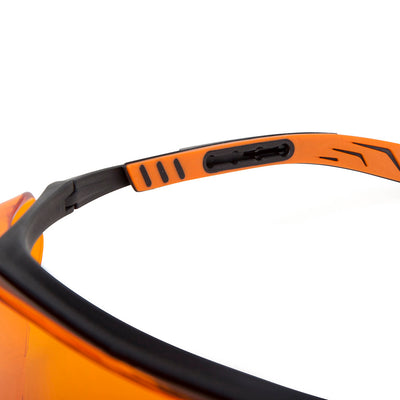 Univet 5X7 Ultimate Over Specs Italian Safety Orange Glasses