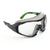 Univet 6X1 Perfect Hybrid Safety Glasses Goggles Clear Lens