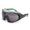 Univet 6X1 Perfect Hybrid Safety Glasses Goggles Smoke Lens