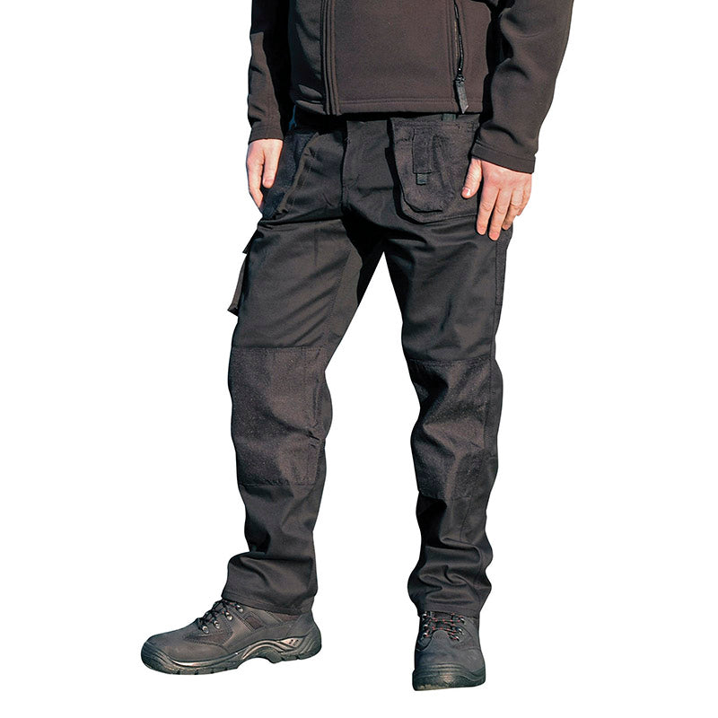 Blackrock Workman Cargo Combat Work Wear Trousers Black / 30 / Short