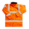 Blackrock High Visibility Coat Winter Fleece Lining Hi-Vis Orange