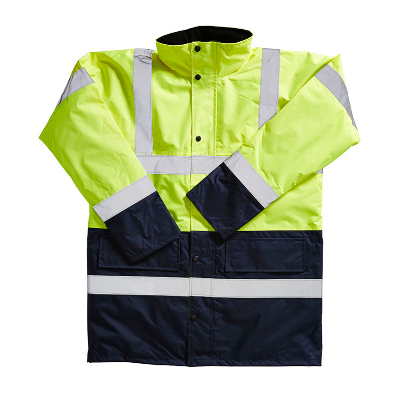 Blackrock Hi Vis Coat Two Tone Contrast Hi-Vis Yellow / Navy / S