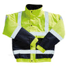 Blackrock Hi Vis Bomber Jacket Two Tone Contrast Hi-Vis Yellow / Navy