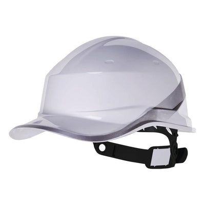 Delta Plus Diamond V Baseball Reversible Hard Hat White