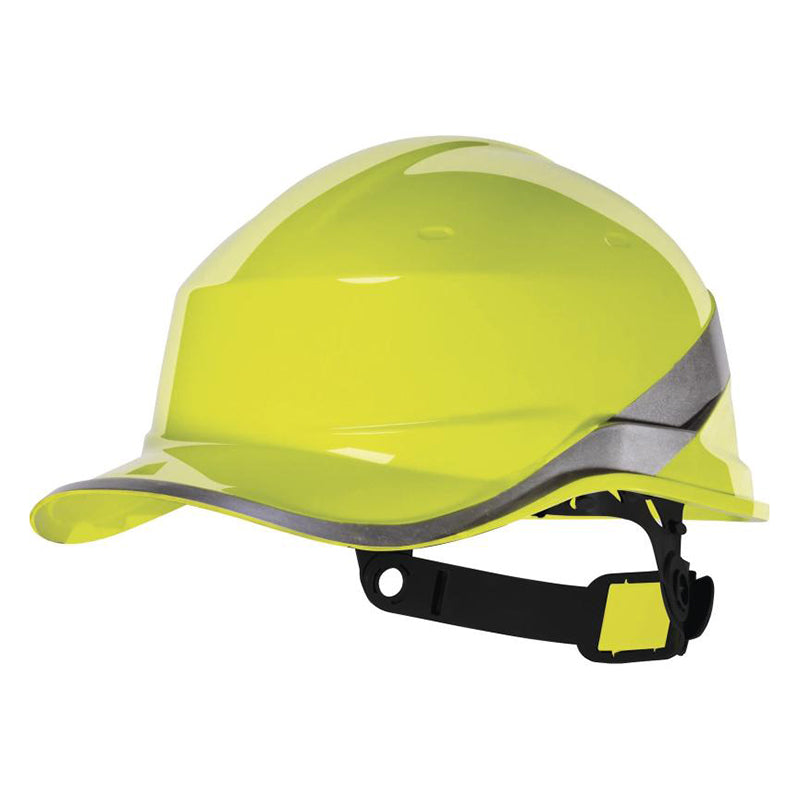 Delta Plus Diamond V Baseball Reversible Hard Hat Yellow
