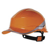 Delta Plus Diamond V Baseball Reversible Hard Hat Orange