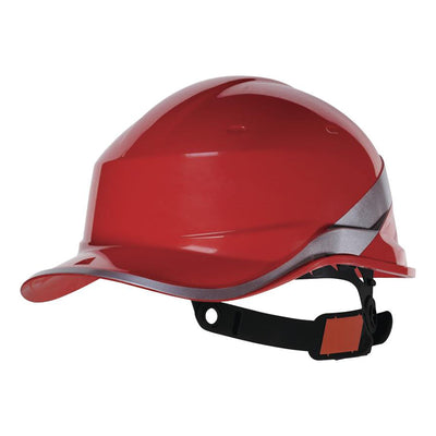 Delta Plus Diamond V Baseball Reversible Hard Hat Red