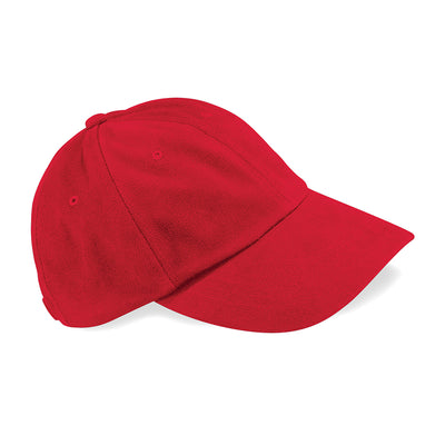 Beechfield Low Profile Heavy Brushed Cotton Cap Classic Red