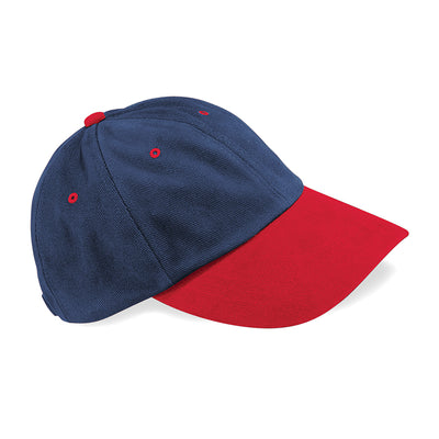 Beechfield Low Profile Heavy Brushed Cotton Cap French Navy / Classic Red