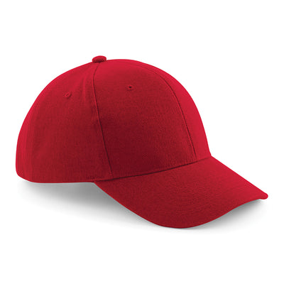 Beechfield Pro-Style Heavy Brushed Cotton Cap Classic Red