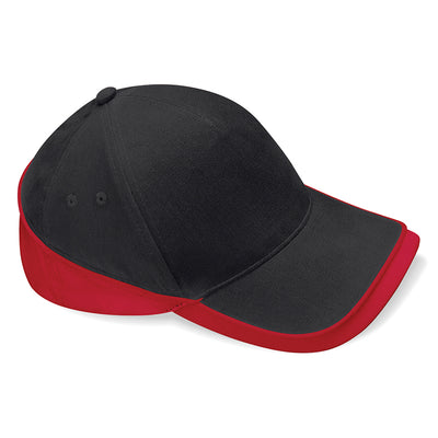 Beechfield Teamwear Competition Cap Black / Classic Red