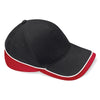 Beechfield Teamwear Competition Cap Black / Classic Red / White