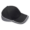 Beechfield Teamwear Competition Cap Black / Graphite Grey / White