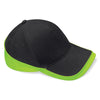 Beechfield Teamwear Competition Cap Black / Lime Green
