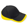 Beechfield Teamwear Competition Cap Black / Yellow