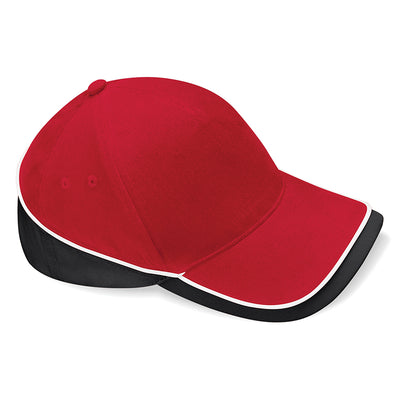 Beechfield Teamwear Competition Cap Classic Red / Black / White