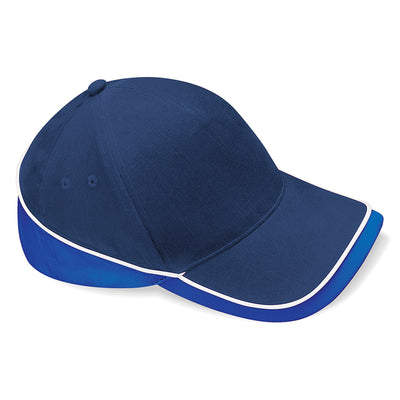 Beechfield Teamwear Competition Cap French Navy / Bright Royal / White