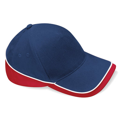 Beechfield Teamwear Competition Cap French Navy / Classic Red / White