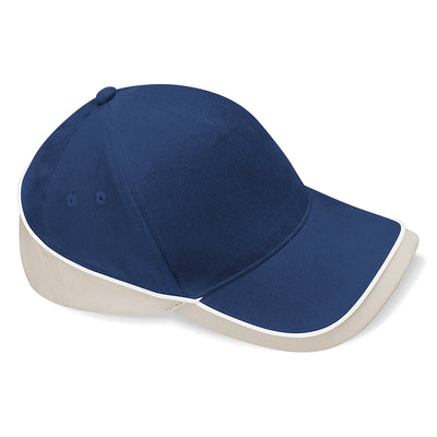 Beechfield Teamwear Competition Cap French Navy / Putty / White