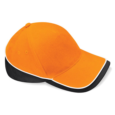 Beechfield Teamwear Competition Cap Orange / Black / White