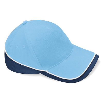 Beechfield Teamwear Competition Cap Sky Blue / French Navy / White