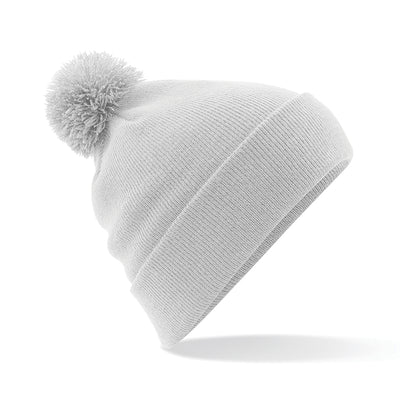 Beechfield Original Pom Pom Beanie Light Grey