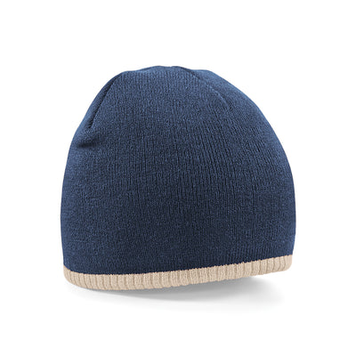 Beechfield Two-Tone Pull On Beanie French Navy / Stone