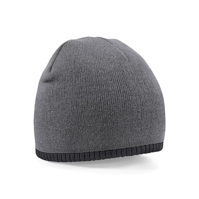 Beechfield Two-Tone Pull On Beanie Graphite Grey / Black