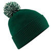 Beechfield Snowstar Beanie Bottle Green / Off White