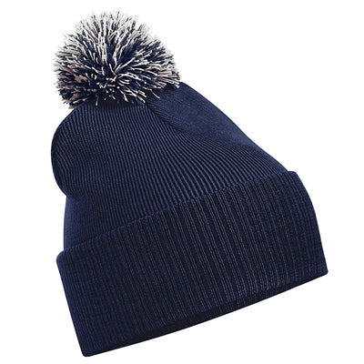 Beechfield Snowstar Beanie French Navy / Light Grey