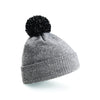 Beechfield Snowstar Beanie Heather Grey / Black