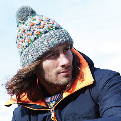 Beechfield Blizzard Bobble Beanie Forager Fusion