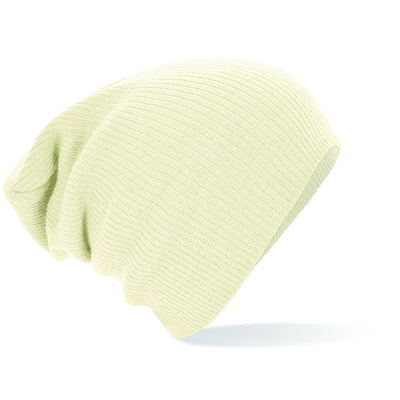 Beechfield Slouch Beanie Off White