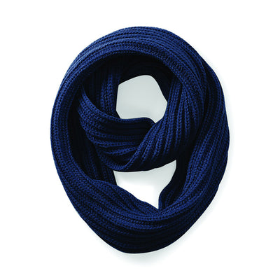 Beechfield Deluxe Infinity Scarf French Navy
